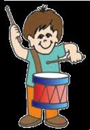 cartoon drummer boy