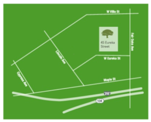 Pacific oaks map with parking